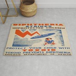Vintage poster - Diptheria Rug