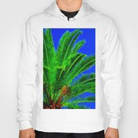 palm tree Hoodies featuring Palm Tree by Phil Smyth