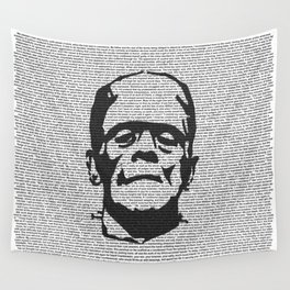 Words of Frankenstein Wall Tapestry