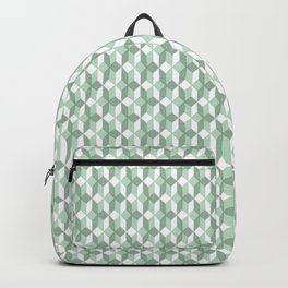 Abstract geometrical  forest mint green white pattern Backpack