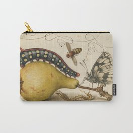 Pear Butterfly Caterpillar Carry-All Pouch