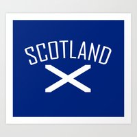 scotland Art Prints featuring Scotland by Earl of Grey