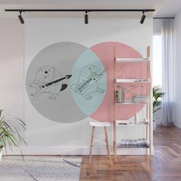 Keytar Platypus Venn Diagram Gray Blue Pink Wall Mural