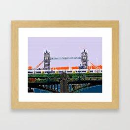 Tower bridge and tube Framed Art Print