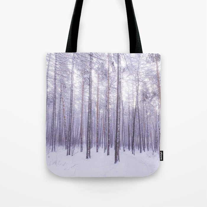 Snow in Trees Tote Bag