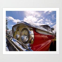 Classic 50's American Car Art Print