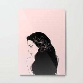 honeygirl | pink Metal Print