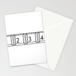 1234 Keyboard Buttons Stationery Cards