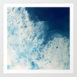 Bright, White, Frothy Ocean Surf Art Print