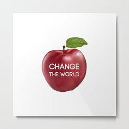 Apple Change the World Metal Print