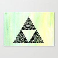 triforce Canvas Prints featuring Triforce by Leonnie's Art