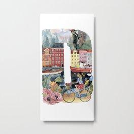 letter D dutch style Metal Print