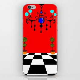 An Elegant Hall of Mirrors with Chandler and Topiary iPhone Skin