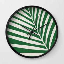 Minimalist Palm Leaf Wall Clock