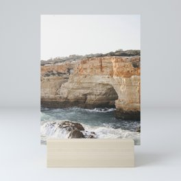 Crashing Cliffs of the Algarve Coast   Portugal fine art travel photography, Saige Ashton prints Mini Art Print
