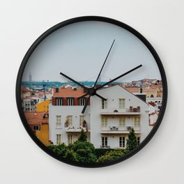 Lisbon Landscape Wall Clock