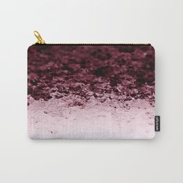 Burgundy CrYSTALS Ombre Gradient Carry-All Pouch