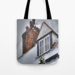 Winter Cottage Tote Bag
