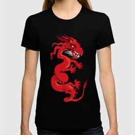 Red Dragon with Teal T-shirt