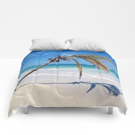Landscape | Palm and Beach | Life's a Beach! | Nadia Bonello Comforters
