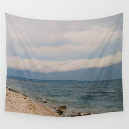 thunderstorm approaching at peroj beach croatia istria Wall Tapestry