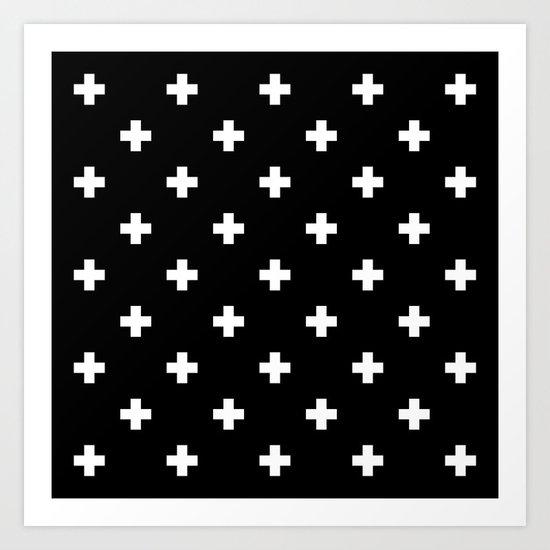 Swiss cross pattern Art Print