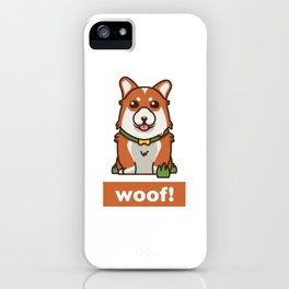 Cute Pembroke Cardigan Welsh Corgi Pet Dog Lover iPhone Case