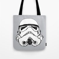trooper Tote Bags featuring Trooper  by Owen Lloyd