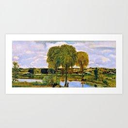 Along The Erie Canal - Arthur Bowen Davies Art Print