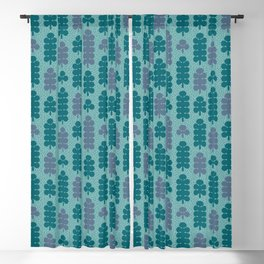 Forest after rain. Tree pattern Blackout Curtain