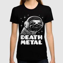 Death Metal Gift - Funny Sloth Metal Fan T-shirt