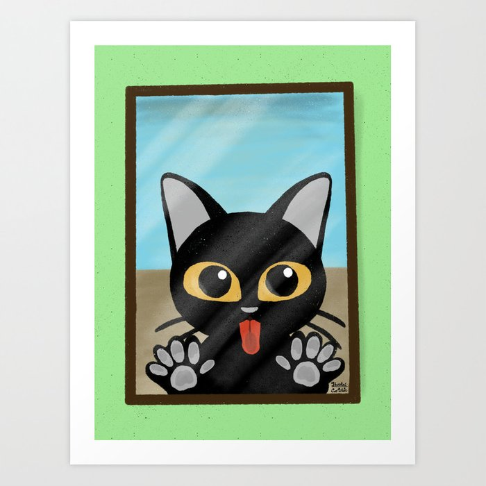 Licking Art Print