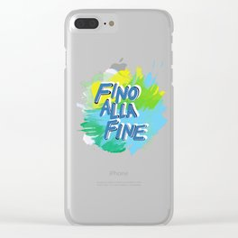 Fino alla Fine Clear iPhone Case