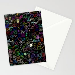 Icons Overdrive Multicolor (Black) Stationery Cards