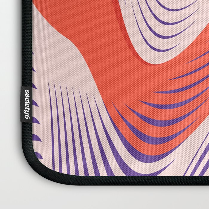 Pink Red Blue lines Laptop Sleeve