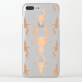 """Goat Skull Design- Copper - Mr.Phillip """" The Witch"""" / Chilling Adventures of Sabrina Clear iPhone Case"""