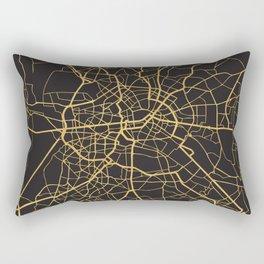 BERLIN GERMANY GOLD ON BLACK CITY MAP Rectangular Pillow