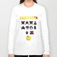 rorschach Long Sleeve T-shirts featuring Rorschach by Gabriel Freire