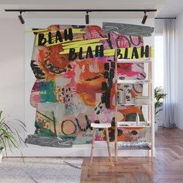 Abstract Blah Blah Wall Mural