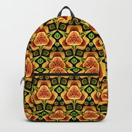 Gold Foil A Rose For You Metallic Red on Black Backpack