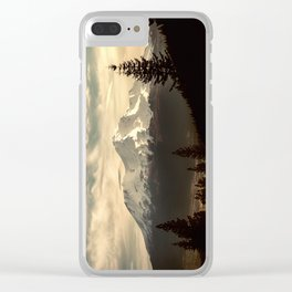 Mount Shasta Waking Up Clear iPhone Case