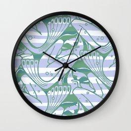 "Koloman (Kolo) Moser ""Textile pattern (Waves)"" (2) Wall Clock"