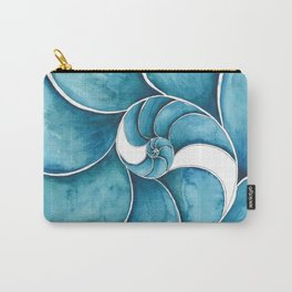 Nautilus Swirl Carry-All Pouch