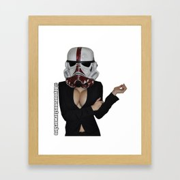 Office Trooper Framed Art Print