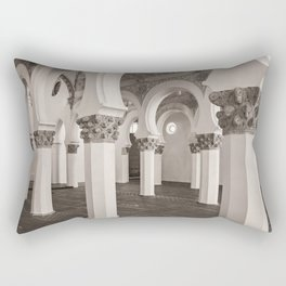 The Historic Arches in the Synagogue of Santa María la Blanca, Toledo Spain (2) Rectangular Pillow