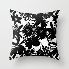 Silhouette flowers Throw Pillow