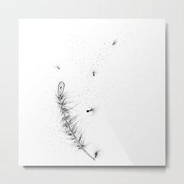 Feather Ink Art Illustration Metal Print