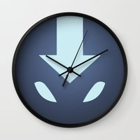 avatar the last airbender Wall Clocks featuring Avatar: the last airbender | Arrow by Ben_cav