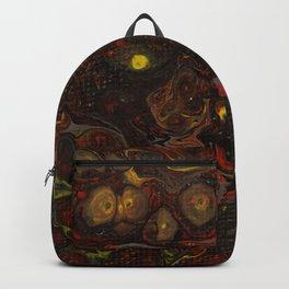 Dirty Acrylic Paint Pour 21, Fluid Art Reproduction Backpack