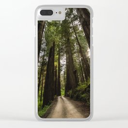 Redwoods Make Me Smile - Nature Photography Clear iPhone Case